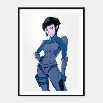 Thumbnail image of Ghost in the Shell Fan Art Framed poster, Live Heroes
