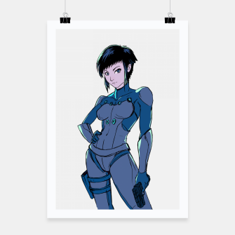 Thumbnail image of Ghost in the Shell Fan Art Poster, Live Heroes