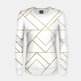 Art Deco Geo Glam #1 #geometric #decor #art  Frauen sweatshirt obraz miniatury