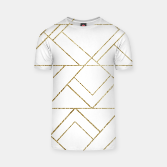 Art Deco Geo Glam #1 #geometric #decor #art  T-Shirt obraz miniatury