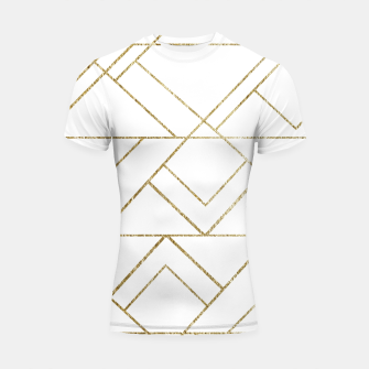Art Deco Geo Glam #1 #geometric #decor #art  Shortsleeve rashguard obraz miniatury