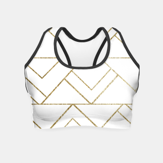Art Deco Geo Glam #1 #geometric #decor #art  Crop Top obraz miniatury