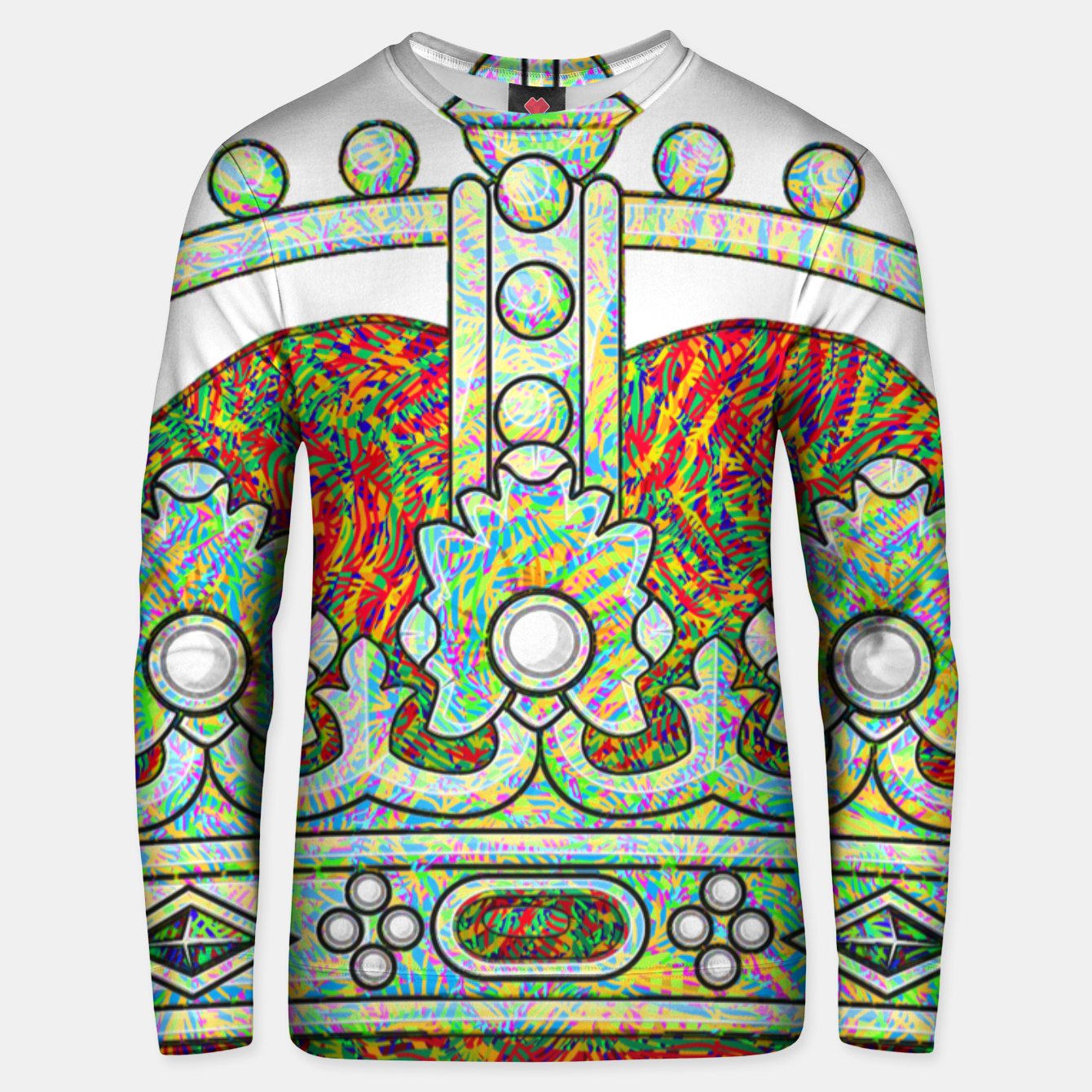 Image of crown Unisex sweater - Live Heroes