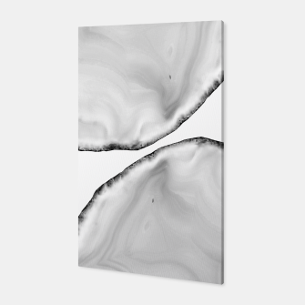 Miniaturka White Agate Neutral Glam #1 #gem #decor #art Canvas, Live Heroes