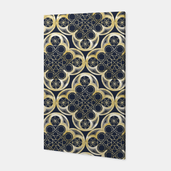 Miniature de image de Golden Moroccan Tile Glam #2 #pattern #decor #art Canvas, Live Heroes