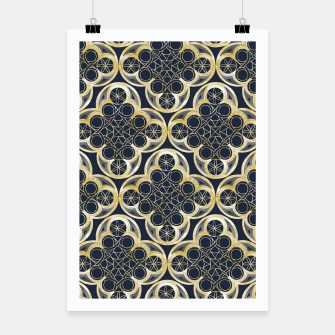 Miniaturka Golden Moroccan Tile Glam #2 #pattern #decor #art Plakat, Live Heroes