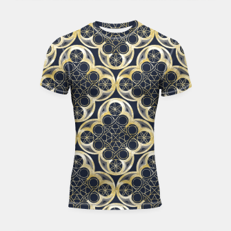Miniaturka Golden Moroccan Tile Glam #2 #pattern #decor #art Shortsleeve rashguard, Live Heroes