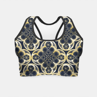 Miniature de image de Golden Moroccan Tile Glam #2 #pattern #decor #art Crop Top, Live Heroes