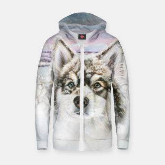 Thumbnail image of The Magic Of Lapland Winter Zip up hoodie, Live Heroes