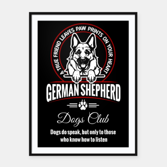 Miniatur German Shepherd Can Speak. Framed poster, Live Heroes