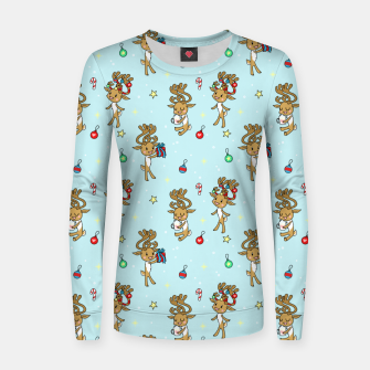 Thumbnail image of Reindeers and Ornaments - yule Women sweater, Live Heroes