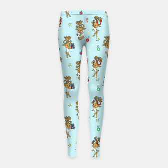 Miniature de image de Reindeers and Ornaments - yule Girl's leggings, Live Heroes