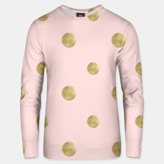 Imagen en miniatura de Happy Polka Dots Gold on Blush #1 #decor #art  Unisex sweatshirt, Live Heroes