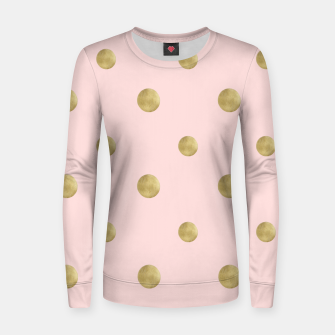 Imagen en miniatura de Happy Polka Dots Gold on Blush #1 #decor #art  Frauen sweatshirt, Live Heroes