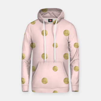 Imagen en miniatura de Happy Polka Dots Gold on Blush #1 #decor #art  Kapuzenpullover, Live Heroes