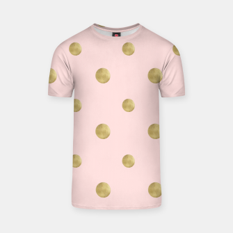 Miniaturka Happy Polka Dots Gold on Blush #1 #decor #art  T-Shirt, Live Heroes