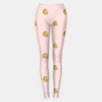Miniaturka Happy Polka Dots Gold on Blush #1 #decor #art  Leggings, Live Heroes