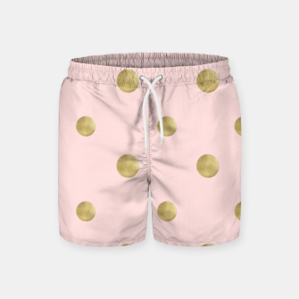 Imagen en miniatura de Happy Polka Dots Gold on Blush #1 #decor #art  Badeshorts, Live Heroes