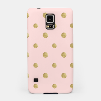 Miniaturka Happy Polka Dots Gold on Blush #1 #decor #art  Handyhülle für Samsung, Live Heroes