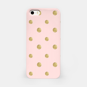 Miniaturka Happy Polka Dots Gold on Blush #1 #decor #art  iPhone-Hülle, Live Heroes