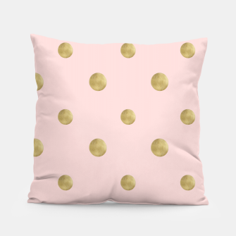 Imagen en miniatura de Happy Polka Dots Gold on Blush #1 #decor #art  Kissen, Live Heroes