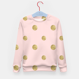 Imagen en miniatura de Happy Polka Dots Gold on Blush #1 #decor #art  Kindersweatshirt, Live Heroes