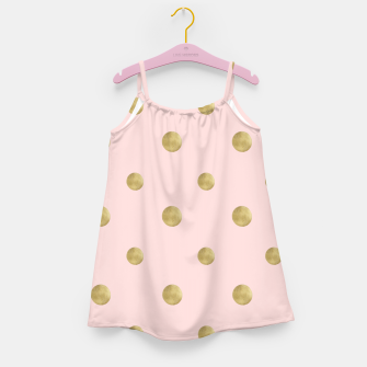 Miniaturka Happy Polka Dots Gold on Blush #1 #decor #art  Mädchenkleid, Live Heroes