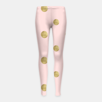 Miniaturka Happy Polka Dots Gold on Blush #1 #decor #art  Kinder-Leggins, Live Heroes