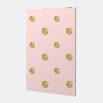 Miniaturka Happy Polka Dots Gold on Blush #1 #decor #art  Canvas, Live Heroes