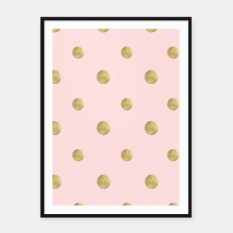 Imagen en miniatura de Happy Polka Dots Gold on Blush #1 #decor #art  Plakat mit rahmen, Live Heroes