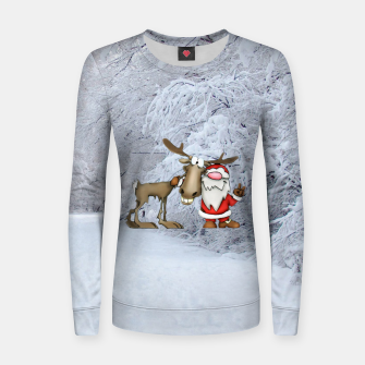 Miniature de image de Santa and Reindeer Women sweater, Live Heroes