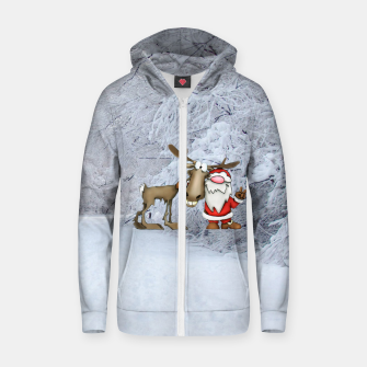 Miniature de image de Santa and Reindeer Zip up hoodie, Live Heroes