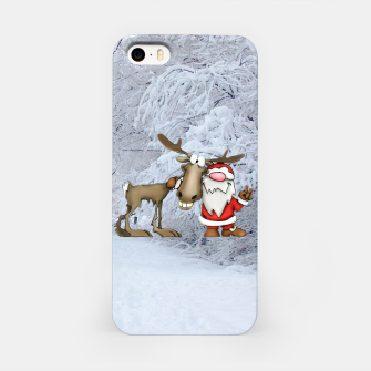 Miniature de image de Santa and Reindeer iPhone Case, Live Heroes