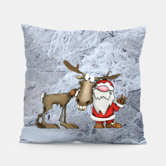 Miniature de image de Santa and Reindeer Pillow, Live Heroes