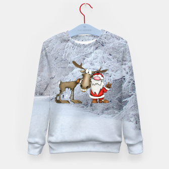 Miniature de image de Santa and Reindeer Kid's sweater, Live Heroes