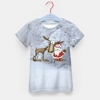 Miniature de image de Santa and Reindeer Kid's t-shirt, Live Heroes