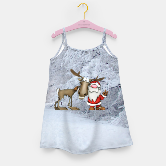 Miniature de image de Santa and Reindeer Girl's dress, Live Heroes