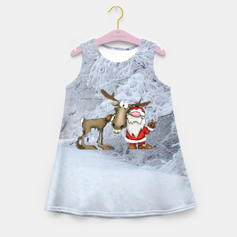 Miniature de image de Santa and Reindeer Girl's summer dress, Live Heroes