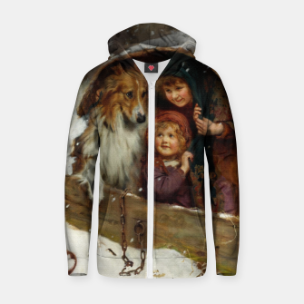Weather-bound by Arthur John Elsley Zip up hoodie thumbnail image