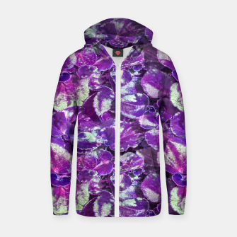 Miniatur Botanical Motif Pattern Design Zip up hoodie, Live Heroes