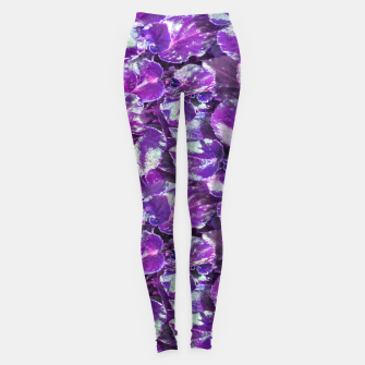 Miniatur Botanical Motif Pattern Design Leggings, Live Heroes