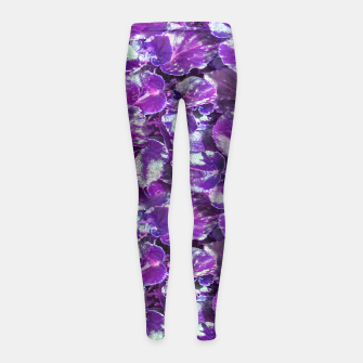 Miniatur Botanical Motif Pattern Design Girl's leggings, Live Heroes