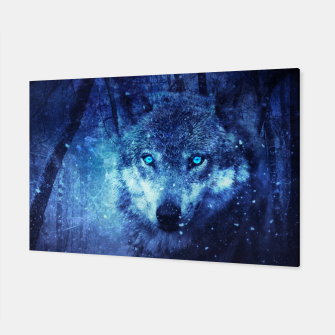 Thumbnail image of blue eye wolf Canvas, Live Heroes