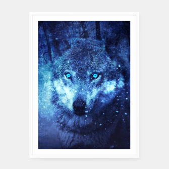 Thumbnail image of blue eye wolf Cartel con marco, Live Heroes
