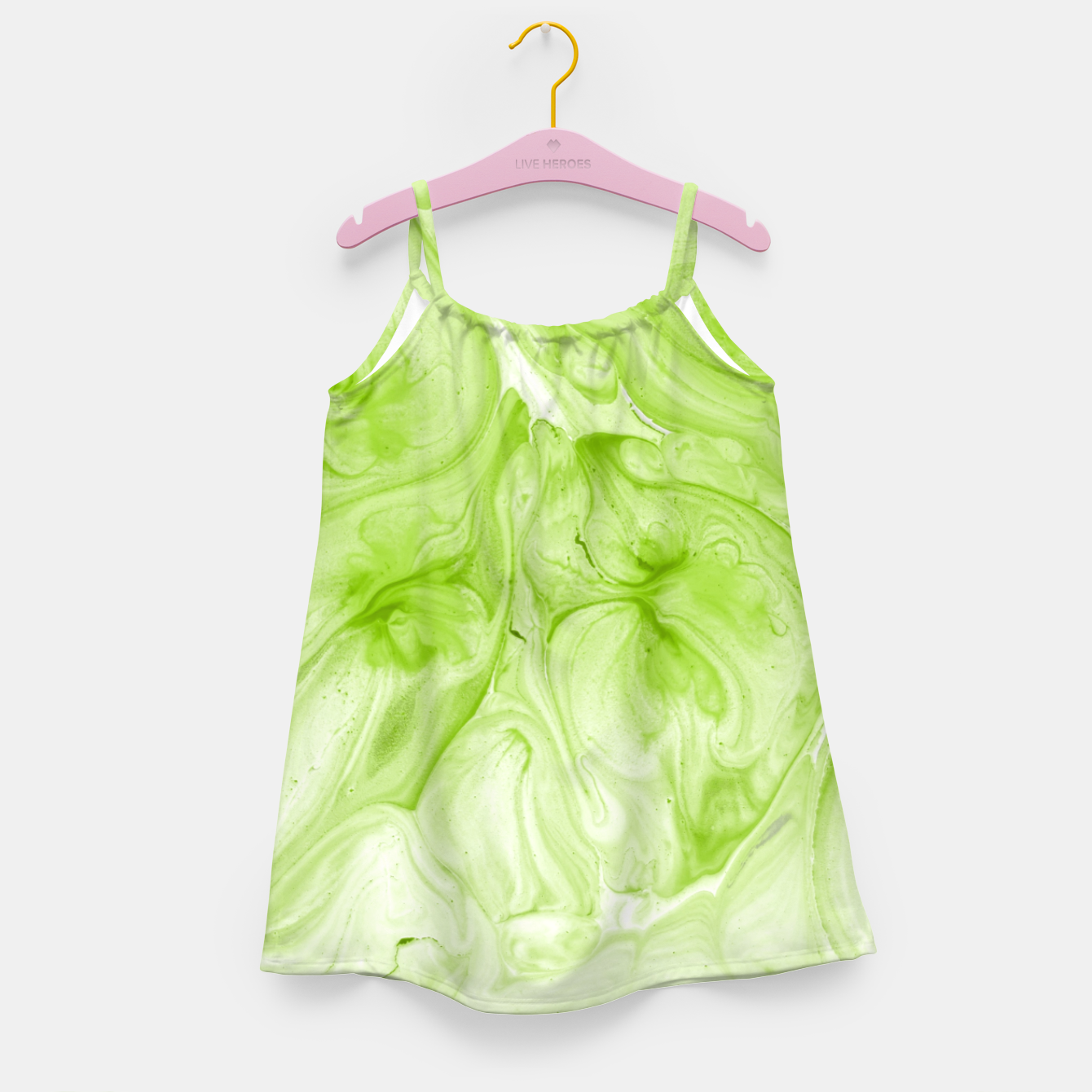 Image of Lime Juice Girl's dress - Live Heroes