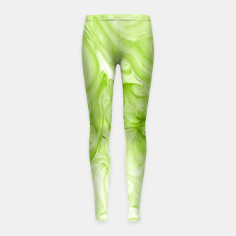 Miniaturka Lime Juice Girl's leggings, Live Heroes