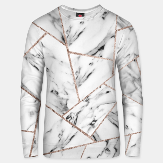 Miniaturka White Marble Rose Gold Geometric Glam #1 #geo #decor #art Unisex sweatshirt, Live Heroes