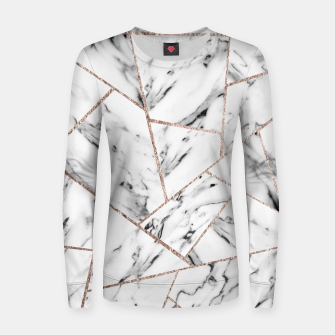 Miniaturka White Marble Rose Gold Geometric Glam #1 #geo #decor #art Frauen sweatshirt, Live Heroes