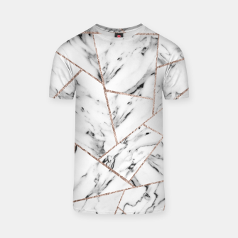 Miniaturka White Marble Rose Gold Geometric Glam #1 #geo #decor #art T-Shirt, Live Heroes