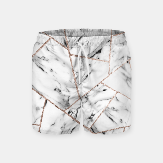 Miniaturka White Marble Rose Gold Geometric Glam #1 #geo #decor #art Badeshorts, Live Heroes